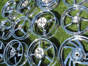 chrome motorcycle wheels