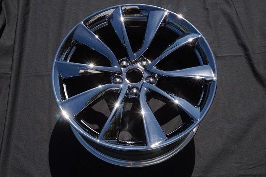 black chrome tesla wheel model s 3