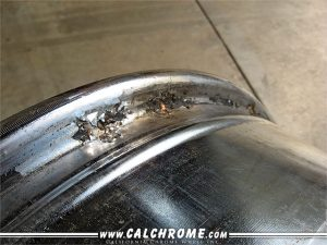 corroded chrome wheel