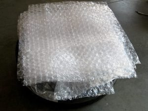 5. Three layers of bubble wrap provide bulk of protection.