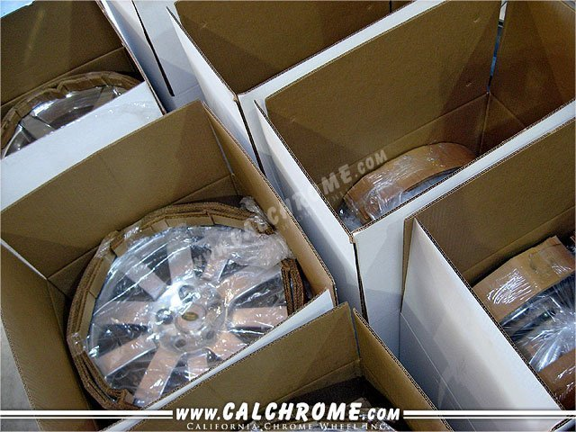 34. INDIVIDUALLY BOXED SHIPPING 18 inch and smaller are boxed with protective rings for shipping via UPS, OnTrac, or palletized shipment.