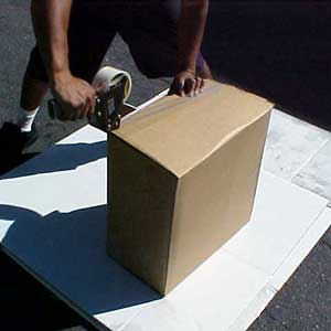 5. Seal the box with packaging tape.