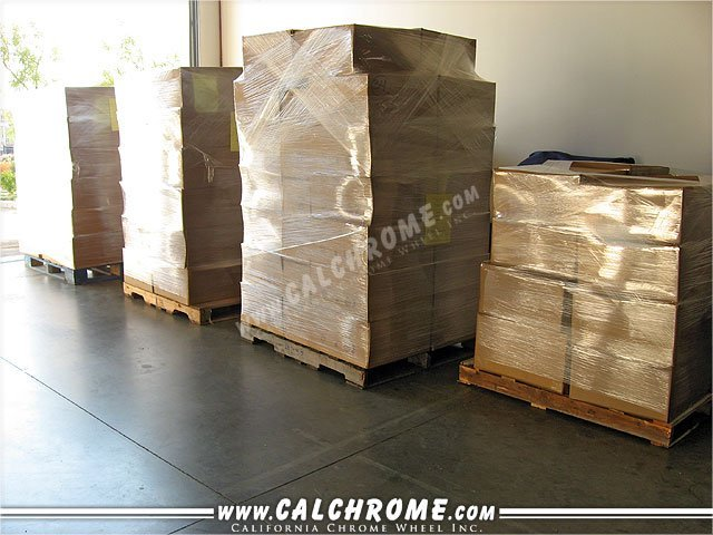 35. PALETIZED SHIPPING Large volume orders are loaded onto pallets and shrink wrapped.