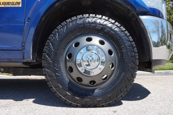 black wheels for truck ram 3500 grey calchrome
