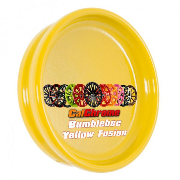 bumble bee yellow fusion powder coat sample disk