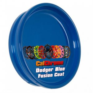 dodger blue color sample disk fusion powder coat