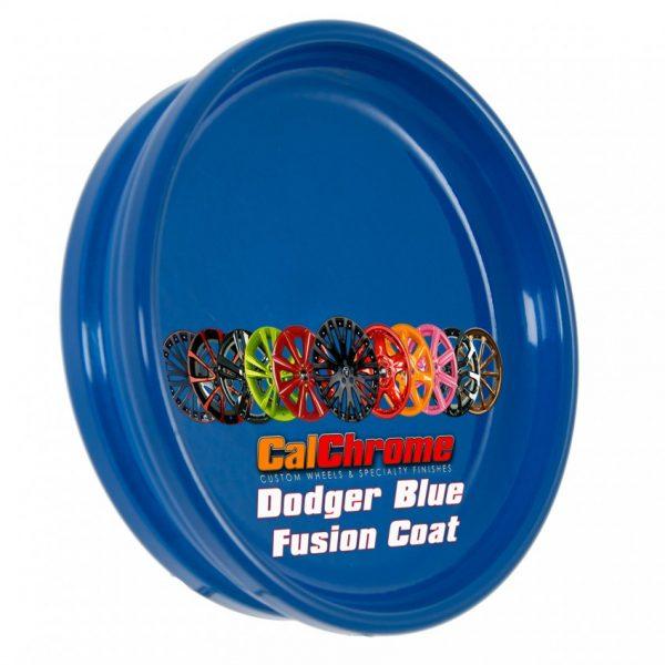 dodger blue color sample disk fusion powder coat