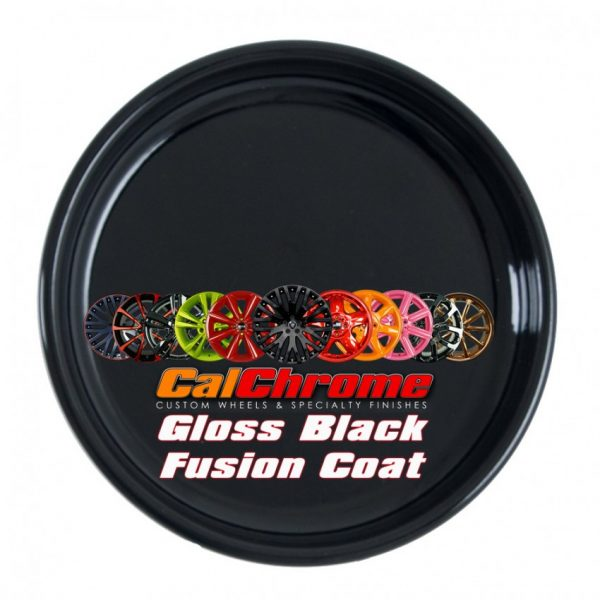 gloss black color sample disk fusion powder coat