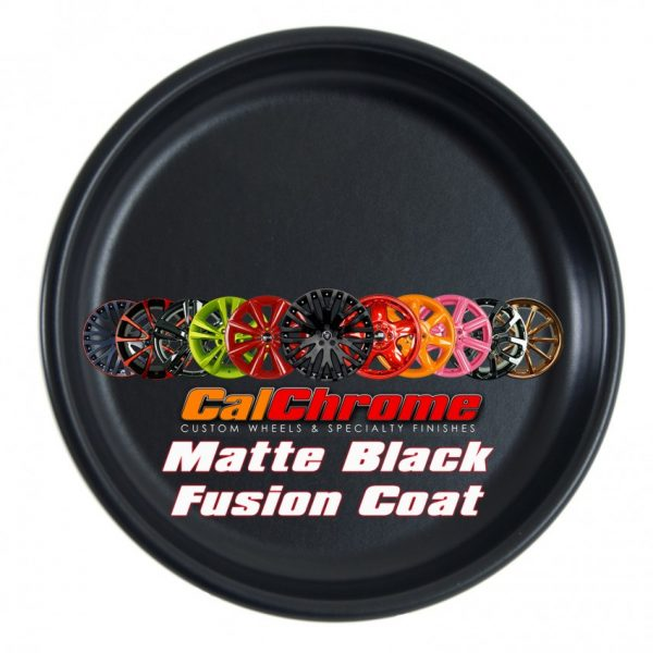 matte black fusion powder coat disk