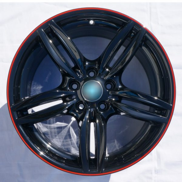 gloss black red pinstripe wheel