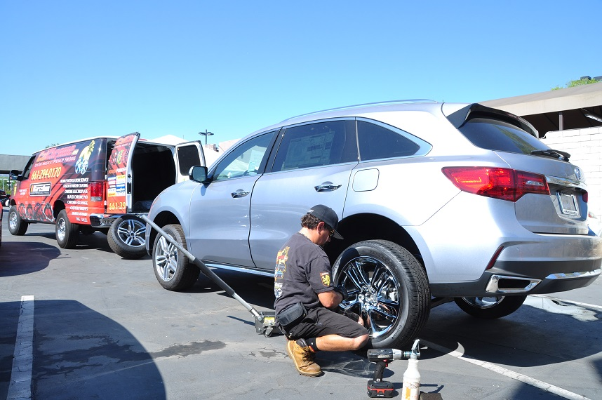 mobile wheel installation