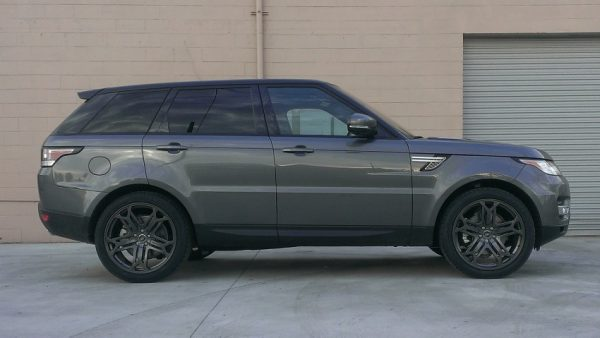 muted grey range rover