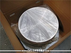 10. Plastic wrapped wheel fits snugly into first cell.