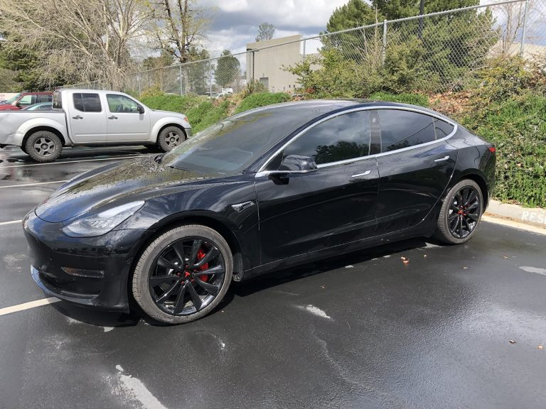best tesla powder coat black wheels rims