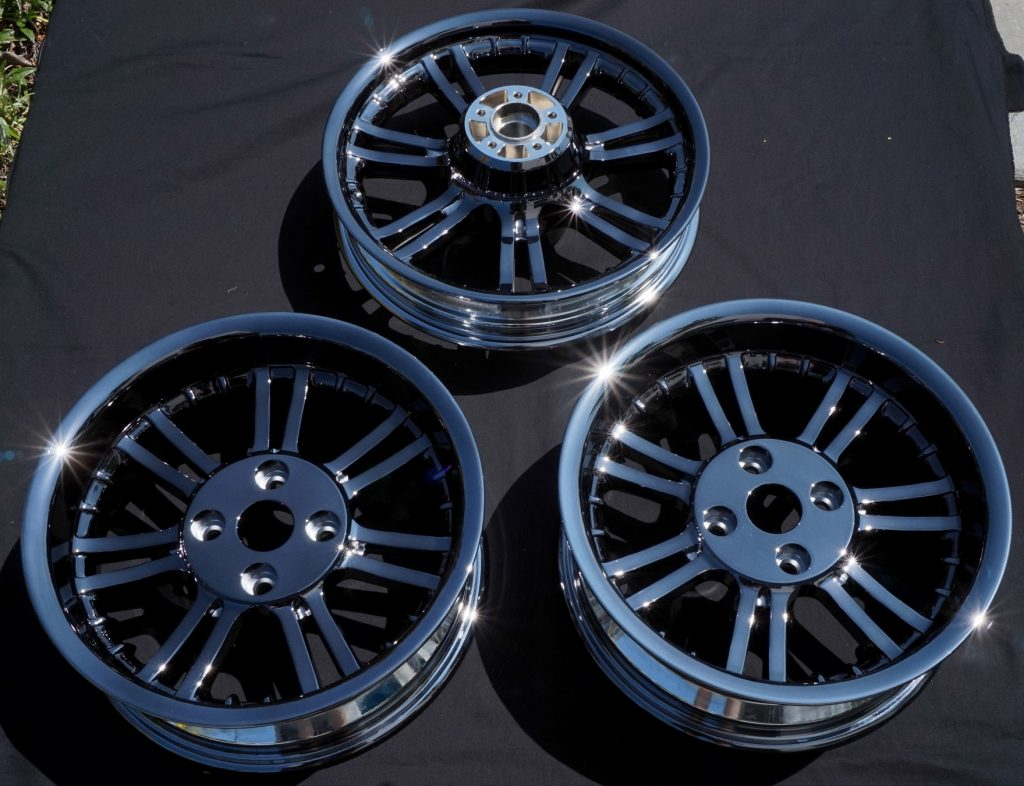 black chrome motorcycle wheels