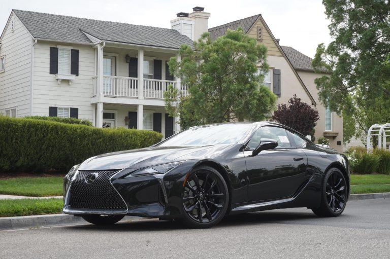 black lexus lc with black wheels rims