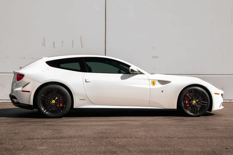 calchrome white ferrari black wheels rims