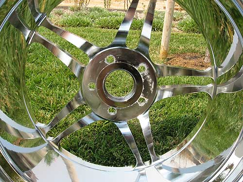 inner barrel of chrome wheel