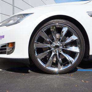 chrome wheels for tesla model s calchrome
