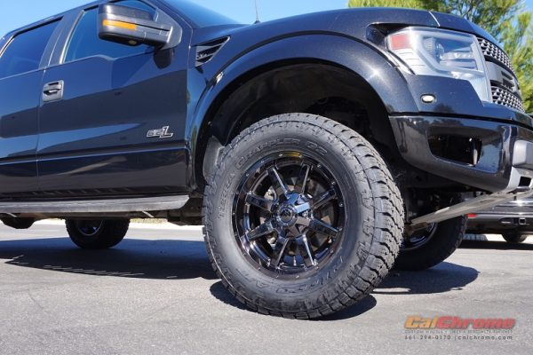 black chrome ford truck wheels