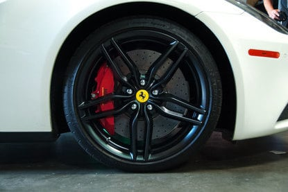 matte satin black ferrari wheel
