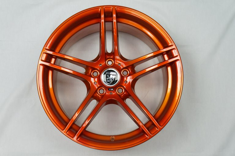 orange powder coat wheels