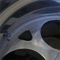C3. The weld on the back of wheel is visible upon inspection