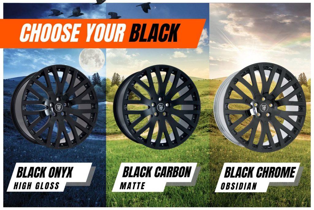 black chrome vs gloss black vs matte black