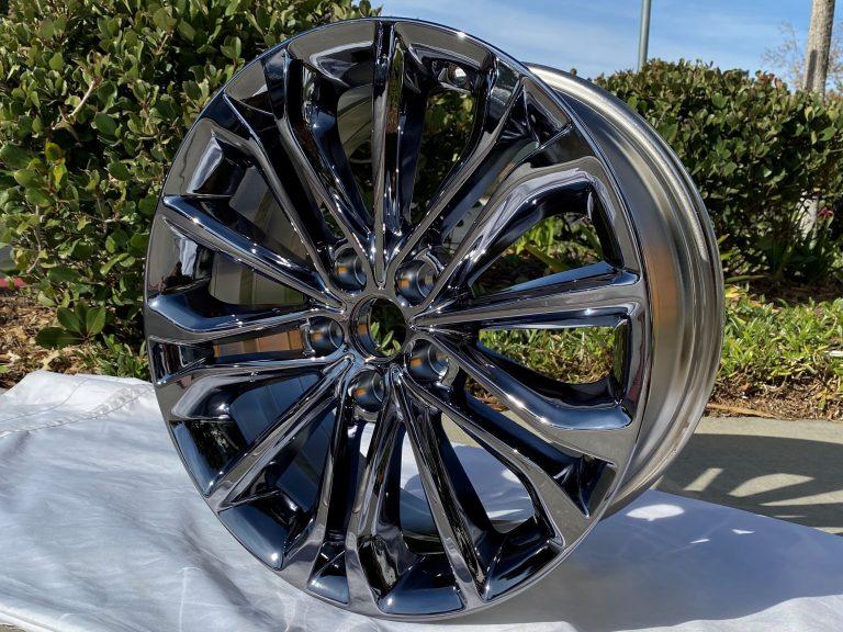 black chrome oem wheel or rim