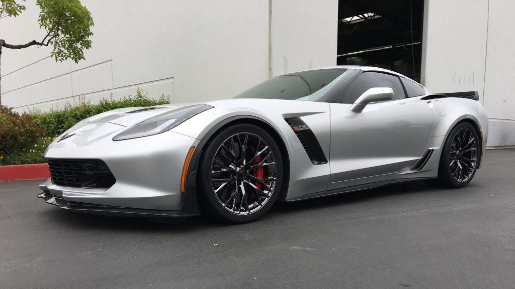 2019 corvette with black chrome wheels by calchrome