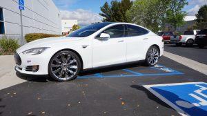 Tesla Chrome Plated Wheels