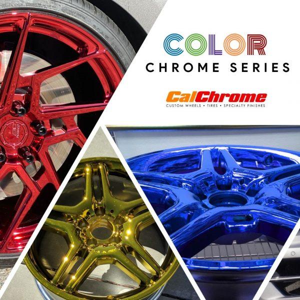 calchrome black blue gold red green purple red chrome